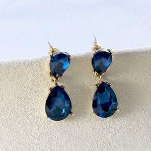 Jewelry - Blue Crystal Drop Earrings